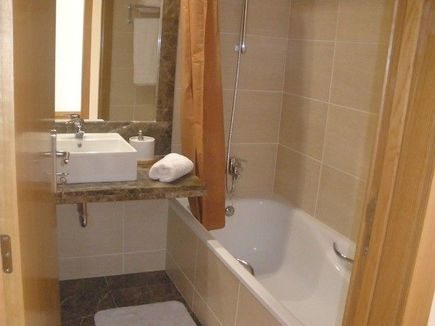 Funchal Madeira Luxury self catering sea view accommodation modern bathroom